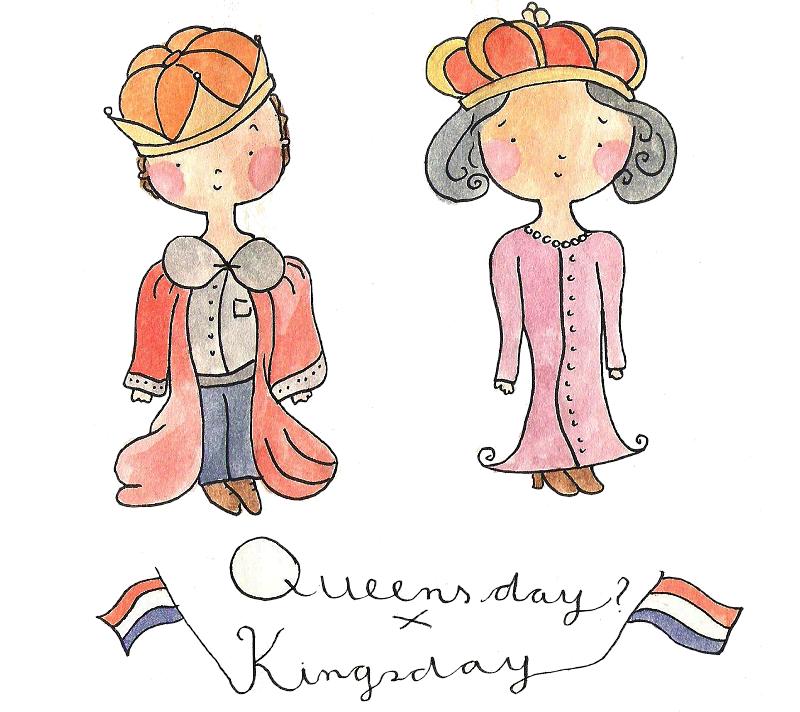 Koningsdag-illustratie