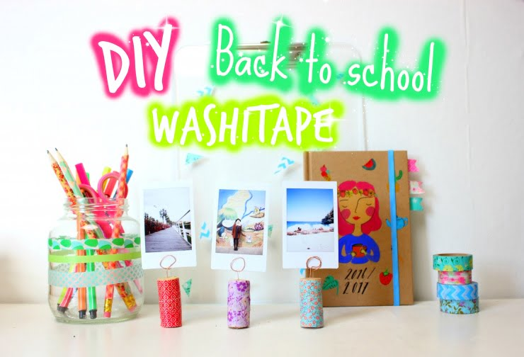 DIY back2school met washitape!