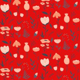 patroon-bloemen-rood