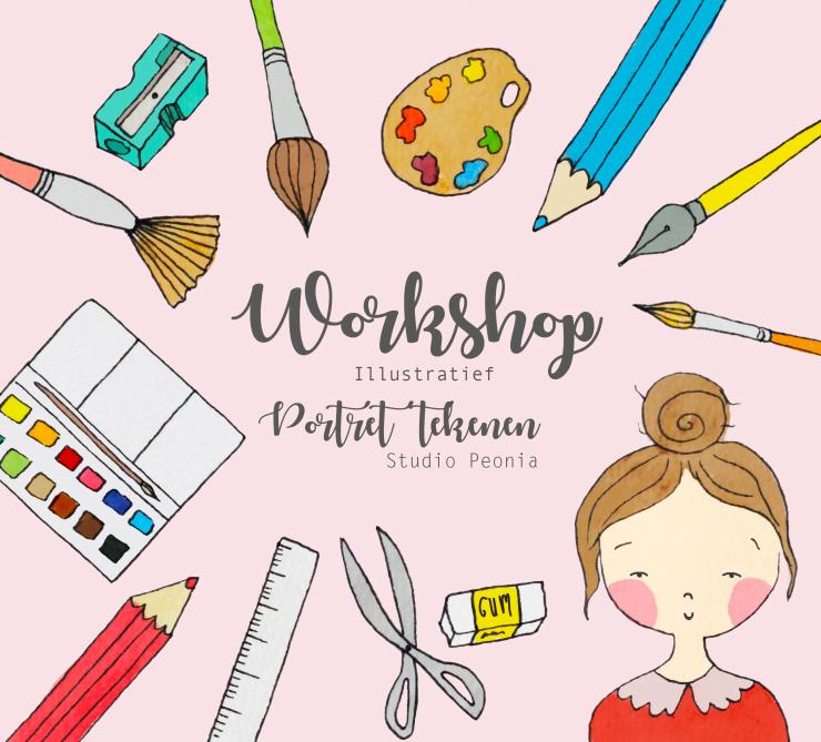 Kom jij een workshop illustratief portret tekenen volgen?