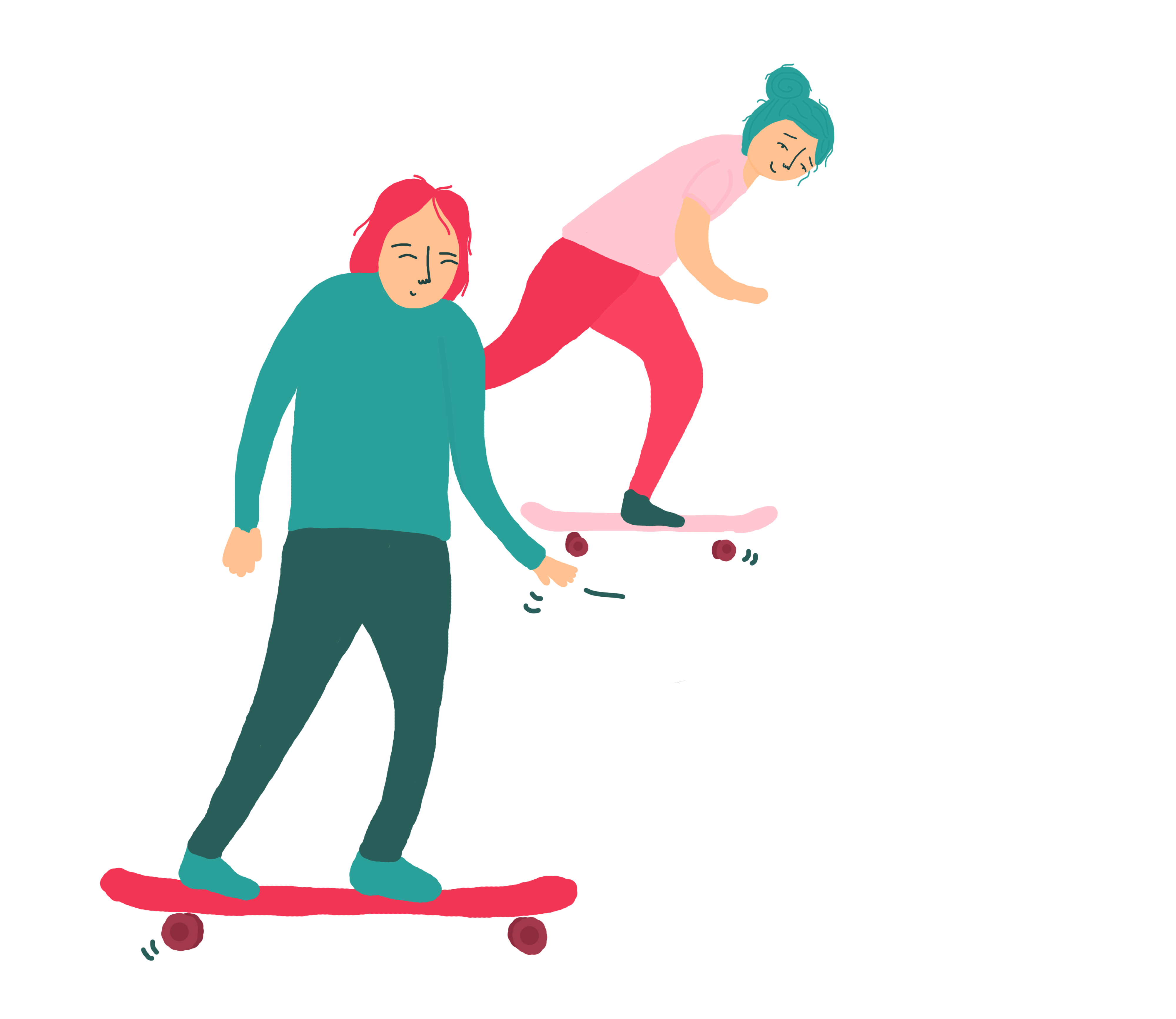 illustratie-skateboarding